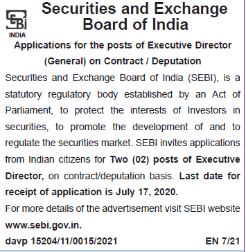 security-exchange-board-India-sebi-recruitment-director-general-post-355x364