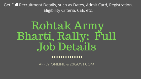 ARO Rohtak Army Bharti Recruitment Rally Jobs Notifications-560x315