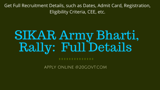 Sikar Army Bharti Recruitment Rally-560x315